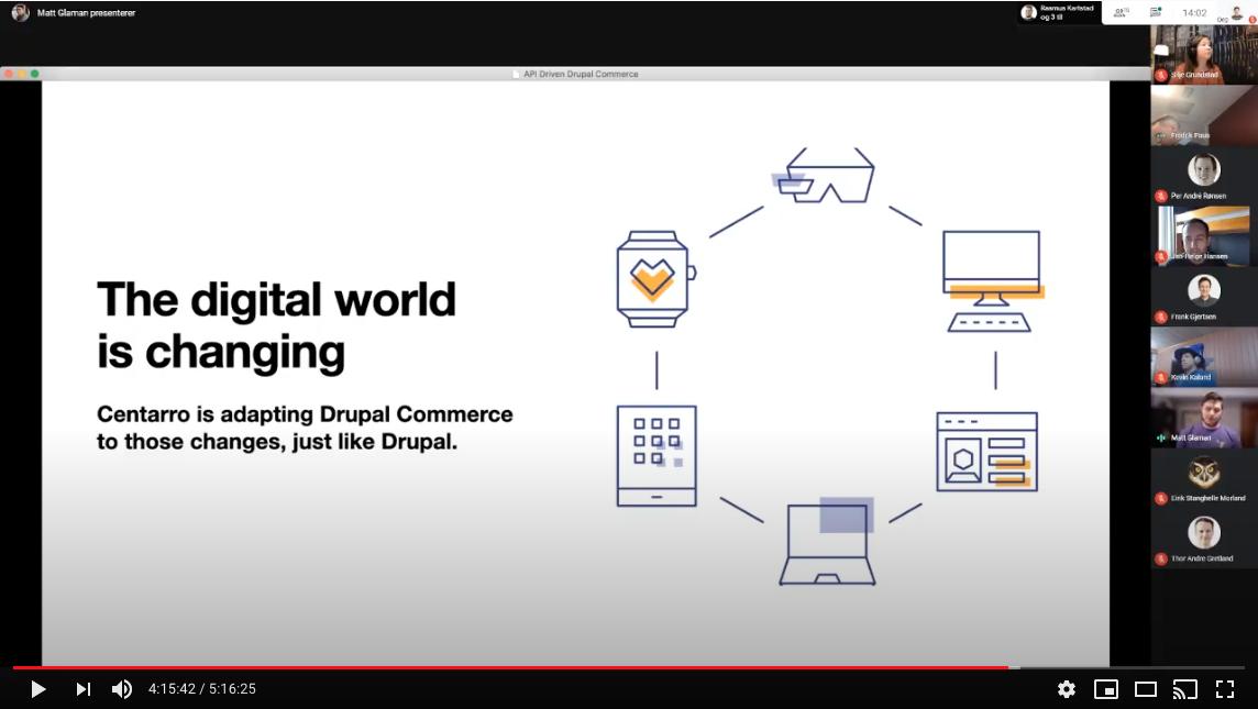 Screenshot of the livestream