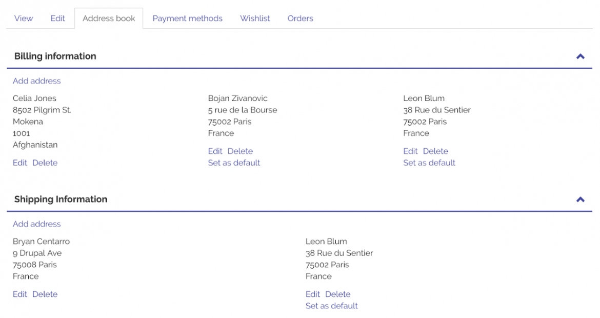 Commerce 2 14 adds Address Book to core   Centarro Commerce