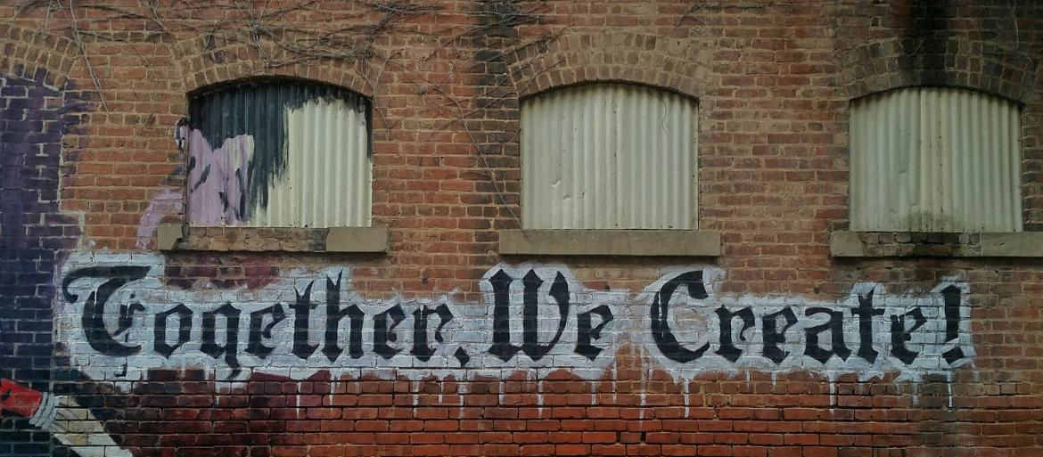 Together We Create graffiti