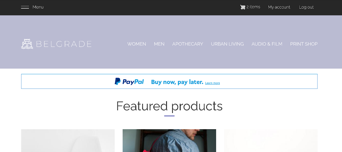paypal credit messaging home banner