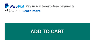 paypal credit messaging add to cart